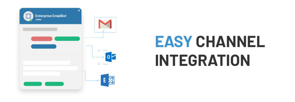 An enterprise-ready customer service email automation platform offers omnichannel support and is easy-to-integrate with Exchange Web Service, Gmail, or Outlook 365 in a few, simple clicks.