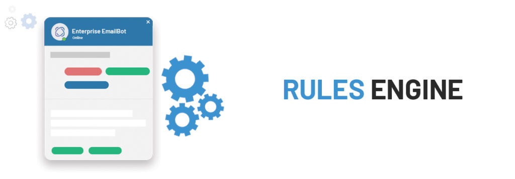 An enterprise-ready email automation engine allows you to set custom rules and workflows for exception cases.