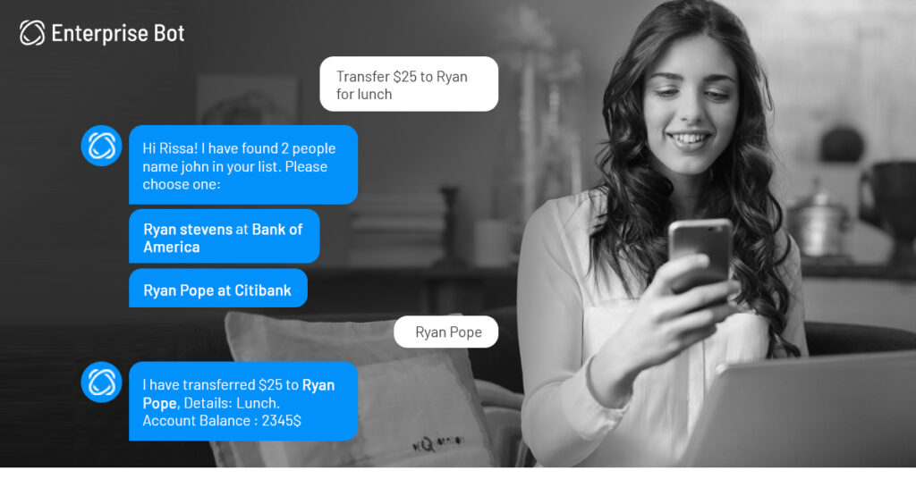 A conversational banking chatbot vs. a custom banking application